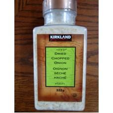 Spice - Onion - Dried Chopped Onion - Kirkland Brand / 1 x 332 Gram
