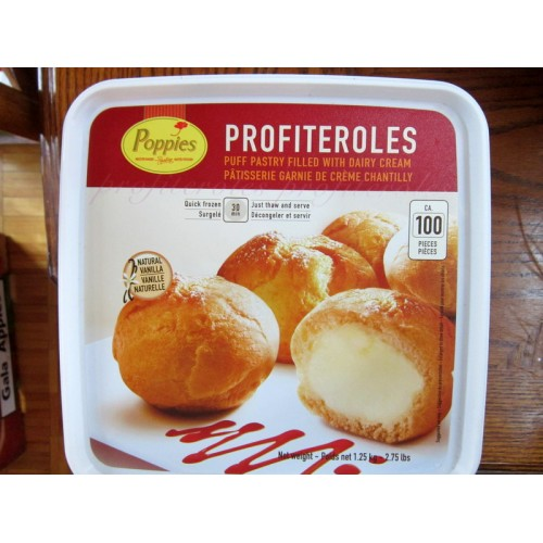 - Puff Pastry Filled With Dairy Cream - Poppies Brand - Profiteroles ...