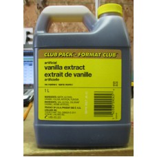 Baking - Vanilla Extract Artificial - Club Pack - No Name Brand - 1 x 1 Liter Jug