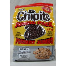 Baking - Chipits - Pure Semi-Sweet Chocolate Chips -  Hershey's Brand /  1 x 2.4 Kg Resealable Bag