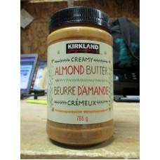 Peanut Butter - Almond Butter - Kirkland Brand - Creamy Almond Butter /  1 x 765 Gram Jar