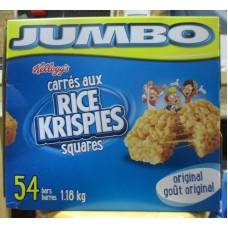 Cereal - Rice Krispies Squares - Original - Jumbo Size  - Kellogg's Brand / 1 x 54 Squares / 1.18 Kg Box