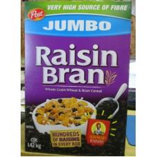 Cereal - Kellogg's Brand -  Raisin Bran - Whole Grain Wheat & Bran Cereal / 1 x 1.42 Kg Box