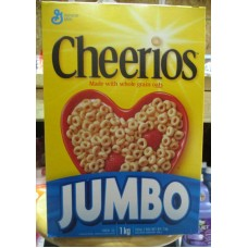 Cereal - General Mills Brand - Cheerios -  Original - Whole Grain Oats / 1 x 1 KG / 2 Boxes Of 500 Grams Each