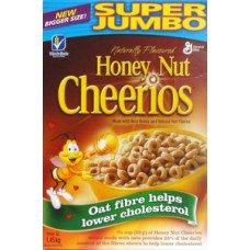 Cereal - Honey Nut Cheerios  - Jumbo Size / 1 x 1.3 Kg Box