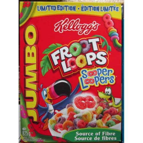 Cereal, Fruit Loops, Froot Loops, Breakfast