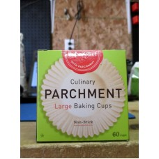 Baking - Baking Cups - Parchment Paper -  PaperChef Brand - Large Size / 1 x 60 Cups