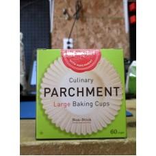 Baking - Baking Cups - Parchment Paper -  PaperChef Brand - Large Size / 1 x 60 Cups