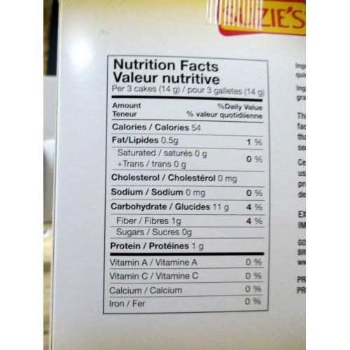 Cracker Suzie S Cakes Quinoa Flax Rice