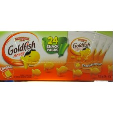Crackers - Goldfish - Cheddar Baked With Real Cheese / 24 x 43 Gram Bags / 1.03 Kg Box