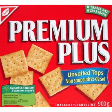 Crackers - Christie Brand - Premium Plus Unsalted Tops - Soda Cracker 1 x 900 Grams Mega Size