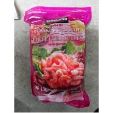 Frozen - Shrimp - Kirkland Brand - Cooked Shrimp - Tail Off - Peeled - Deveined / Size is 90 - 130 Shrimps Per lb / 1 x 907 Gram Bag / 2 lbs / Frozen Product