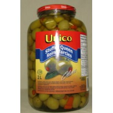 Olives - Unico Brand - Queen Stuffed Olves  1 x 2 Liter Jar
