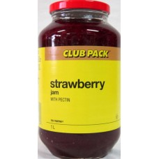 Jam - No Name Brand - Strawberry Jam With Pectin 1 x 1 Liter  - ON SPECIAL