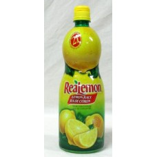 Juice - Lemon -  Real Lemon Juice from Concentrate / 1 x 945 ml Bottle