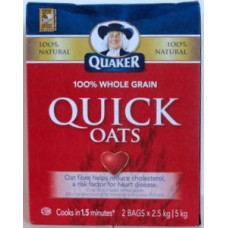 Cereal - Quaker Brand - Quick  Oats 1 x 5 kg / ON SPECIAL UNTIL THE STOCK IS GONE