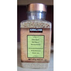 Spice - Seasoning -  No Salt - Organic - Kirkland Brand /  1 x  411 Grams
