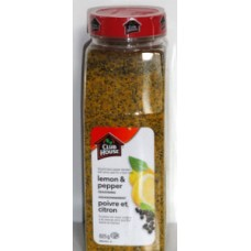 Spice - Lemon & Pepper Seasoning - Clubhouse Brand / 1 x 825 Grams