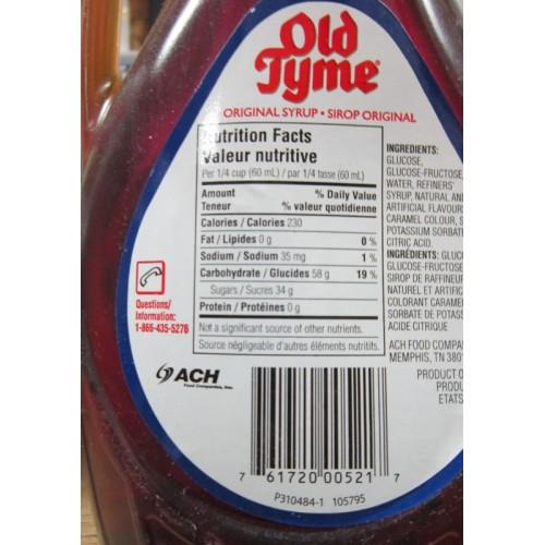 Syrup Pancake Old Tyme Original 1 X 750 Ml