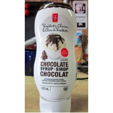 Syrup - President's Choice Brand - Chocolate Syrup - Ice Cream & Dessert Topping - Squeezable Bottle / 1 x 428 ml