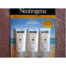 Sunscreen - Neutrogena Brand - 60 SPF - Ultra Sheer  Dry-Touch Sunscreen - With Helioplex - Ultra-Light / 3 x 88 ml
