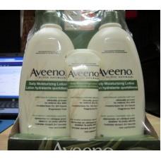 Lotion -  Aveeno Brand - Moisturizer Lotion /  2 x 600 mL & 1 x 71 ml Bonus