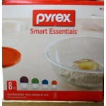 """Containers - Pyrex Brand - Pyrex Glass Mixing Bowls - Variety Pack - 8 Piece Set Including Lids""""""""See Pictures For More Details"""""""