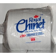 "Plates - Chinet Brand  -  Lunch Paper Plates - Extra Strong -  8 3/4""  Diameter 1 x 150 plates  / $.10 per plate)"