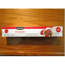 "Baking - Wax Paper -  Selection Brand - 1 x Box & Cutter / 11.9"" x 100.8 Feet / Microwave Safe"