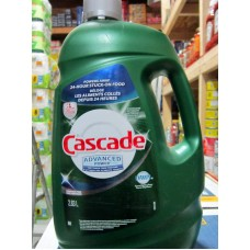 Detergent - Dishwasher Detergent Liquid  -  Dawn Brand - Cascade Liquid Dishwasher Detergent - Advanced Power / 1 x 2.83 Liter