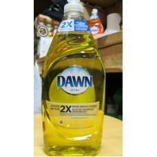 Soap - Dishwashing Liquid -   Dawn Ultra Brand - Antibacterial - Cleans Up To 2X  More Greasy Dishes - Lemon Scent / 2 x 638 ml