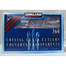Cutlery - Kirkland Brand - Crystal Clear Cutlery - 360 pieces (180 forks, 120 spoons, 60 knives) ($0.04 each)