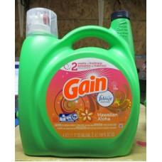 Detergent - Liquid Laundry - Gain Brand With Febreze Freshness  - HE Product - Hawaiian Aloha Scent - 72 Loads / 1 x 4.43 Liter Jug