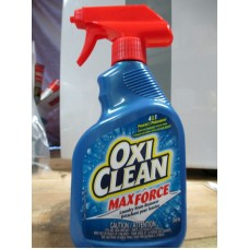 Detergent - Laundry Stain Remover - Oxi Clean - Max Force - Liquid 1 x 354 ml Bottle With Sprayer