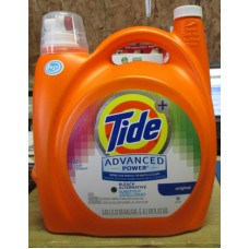Detergent - Liquid Laundry - Tide Advanced Power - Original - Extra Stain Removal For Whites & Colours +Bleach Alternative - HE Product / 1 x 5.02 Liter Jug / 81 Loads