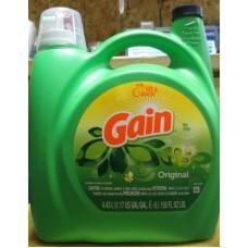 Detergent - Liquid Laundry -  Gain Brand - Original Scent  -  HE Product / 1 x 4.43 Liter Jug / 96 Loads