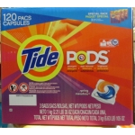 Detergent - Liquid Laundry - Tide Pods - Spring Meadow Scent - HE Product - 3 Pack Of 40 PodsPer Bag / 1 x 120 Pods
