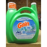 Detergent - Liquid Laundry - Gain Brand - Coldwater Product With Oxi Boost - HE Product - Icy Fresh Fizz Scent  - 78 Loads / 1 x 4.43 Liter Jug