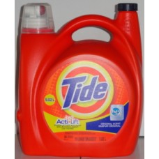 Detergent - Liquid Laundry - Tide Brand - HE Product -  Turbo Clean - Original Scent - / 1 x 4.43 Liter / 96 Loads