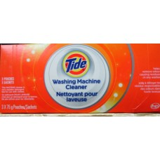 Detergent - Washing Machine Cleaner - Tide Brand -  HE Product  / 3 x 75 Gram  Pouches