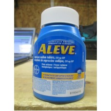 Pain Reliever - Aleve - Bayer Brand - Naproxen Sodium Tablets - 220 mg USP / 1 x 250 Caplets