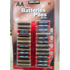 Batteries - Kirkland Brand - AA Alkaline Batteries / 10 Year Shelf Life  / 1 x 48 Batteries