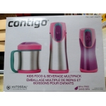 "Contigo - Kids Food & Beverage Multipack - 3 Containers - Pink Color Set  """"See Pictures For More Details"""""