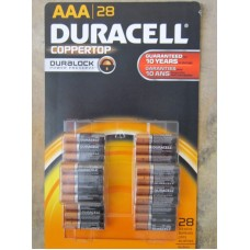 Batteries - Duracell Brand - Size  AAA -  Coppertop  / 1 x 28 Akaline Batteries