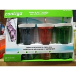 Contigo - Shake & Go Tumblers - Autoclose Technology - Ideal For Mixing & Chilling - 16 Ounce Tumbler With Plastic Straw / 1 x 3 Tumblers