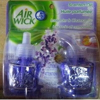 Air Freshner - Air Wick Brand - Scented Oil Refills - Scent Of Lavender & Chamomile / 2 x 2 oz Refills