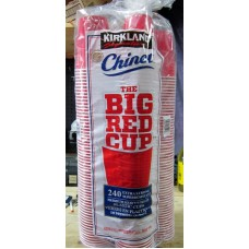 Cups - Kirkland Brand - Red Plastic Cups / Extra Stong /  240 x 18 Ounce Cups
