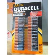 Batteries - Duracell Brand - Coppertop - Size  AA  1 X 48 Batteries