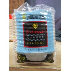 "Coffee Filters - Connaisseur Brand - 8 To 12 Cup White Basket Filters / 1 x 600 Filter Bag """"See Details"""""