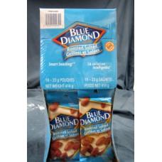 Nuts Blue Diamond Brand Roasted Salted Almonds 18 X
